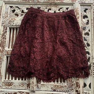 Wilfred Lace Rust Skirt